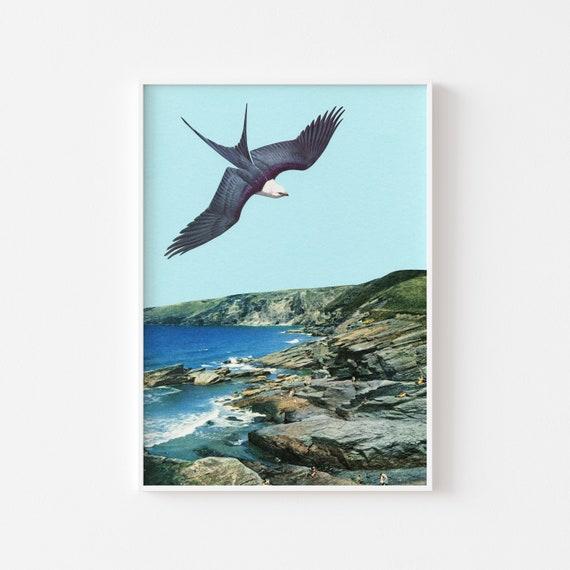 Bird Print, Surreal Art Print - Human Prey