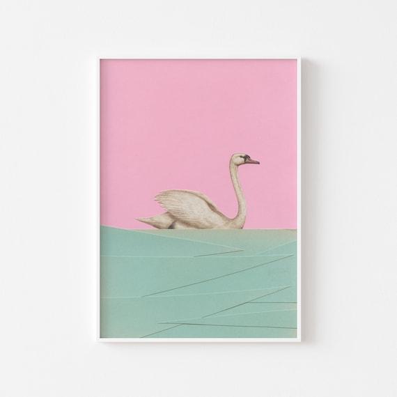 Swan Print - Spring Swan
