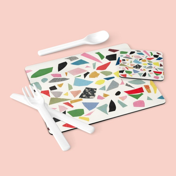 Placemats - White Terrazzo