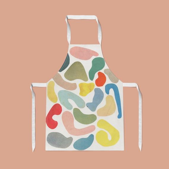 Abstract Apron - Organic Shapes