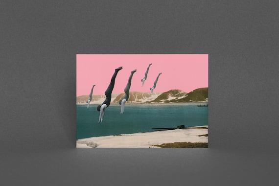 Greeting Card - Dive