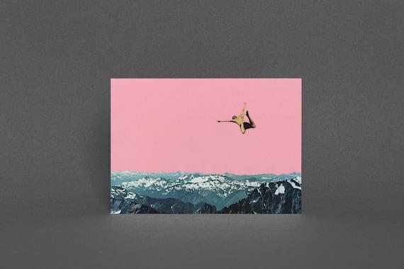 Mountain Card, Surreal Art,  - Higher than Mountains