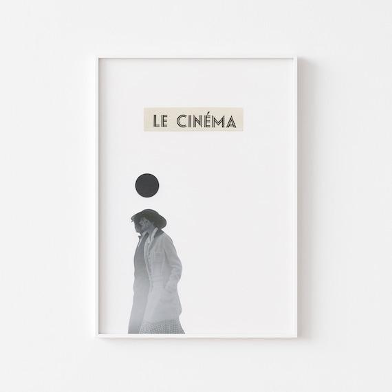 Film Poster, Movie Art Print, Romantic Wall Art - Le Cinema