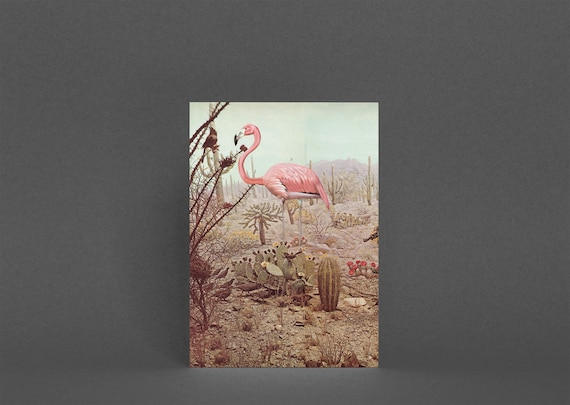 Flamingo Card, Best Friend Card - Wild Flamingo