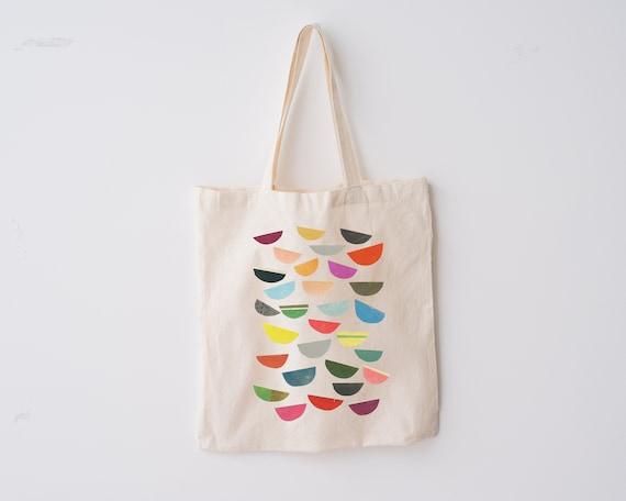 Abstract Design Tote Bag, 100% Organic Cotton - Falling Petals