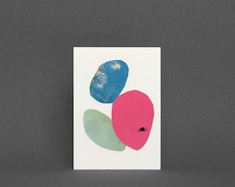 Abstract Art Card, Blank Greetings Card - 003