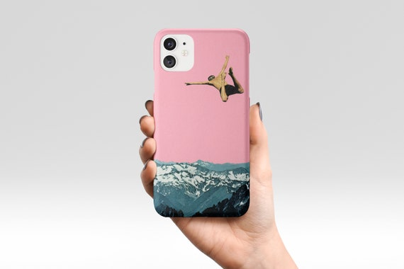 Mountain Phone Case, Pink Device Cover - Higher Than Mountains