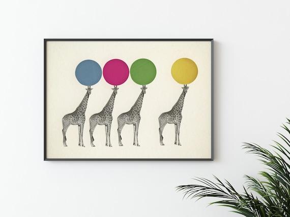 Giraffe Print, Baby Room Decor - Balancing Act