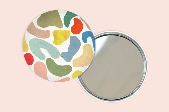 Abstract Pocket Mirror 76mm / 3 inches - Organic