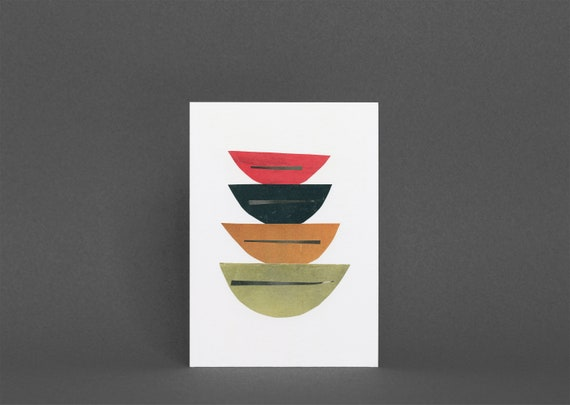 Mid Century Modern Card, Abstract Card - Abstract 013