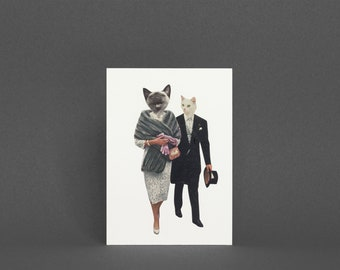 Funny Birthday Card, Cat Greetings Card - Cat Lovers