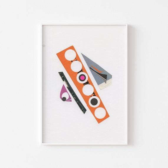 Abstract Art Print, Large Mid Century Modern Wall Art - Abstract 025