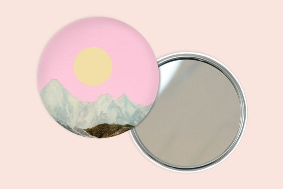 Mountain Pocket Mirror 76mm / 3 inches - Late Summer Sun