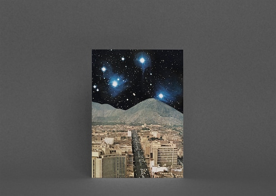 Space Card, Planet Card, Fathers Day - Space City