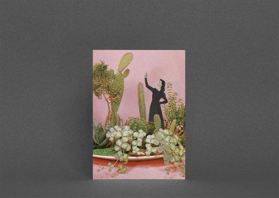 Cactus Card, Botanical Greetings Card - The Wonders of Cactus Island