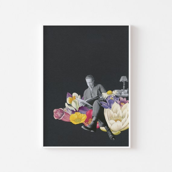 Flower Wall Art, Surreal Art Print, Gifts for Men - Escapism