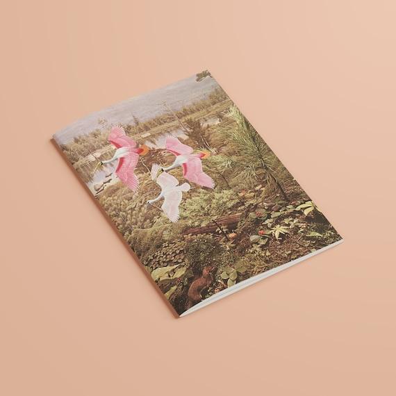 Bird Notebook, Recycled A5 Bird Journal - Flight of the Spoonbills