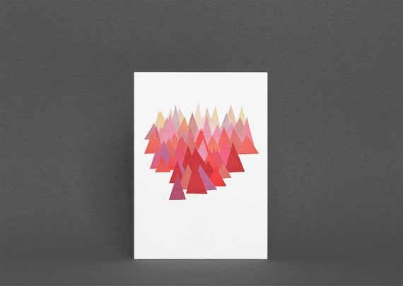 Mountain Greetings Card - Indian Summer