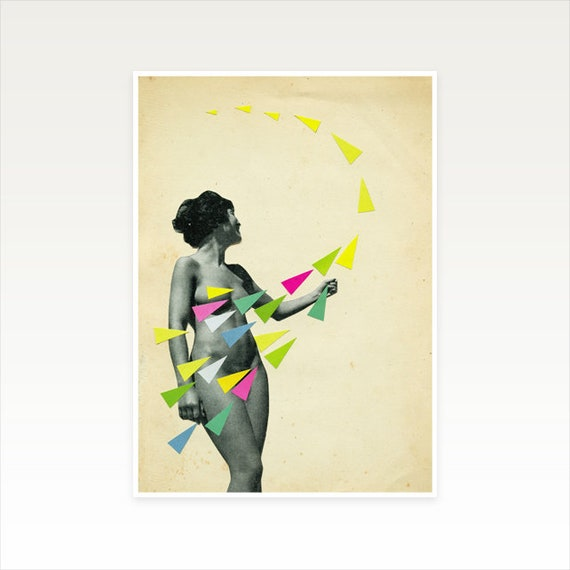 A3 Portrait Print, Geometric Decor, Clearance Sale - She's a Whirlwind