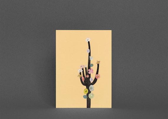Cactus Greeting Card - Flowering Cactus