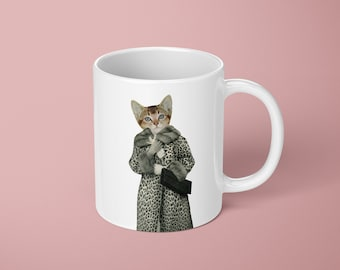 Cat Mug - Kitten Dressed as Cat