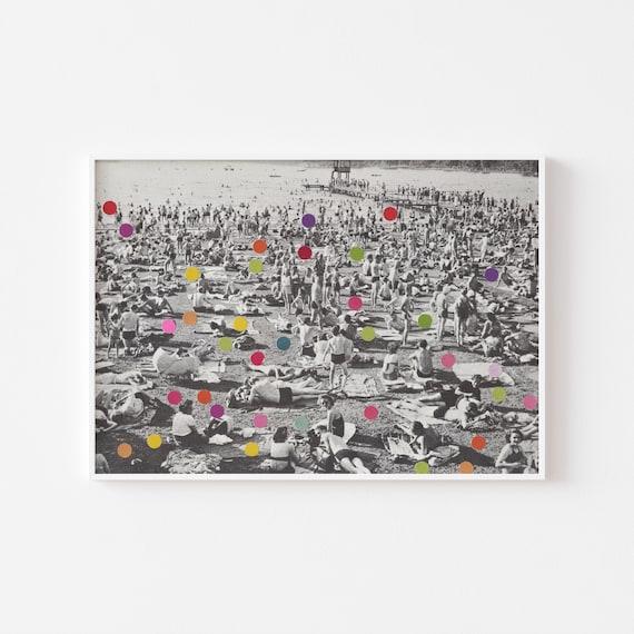 Black and White Beach Print - A Good Spot