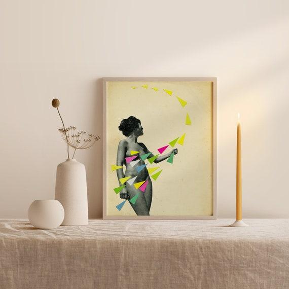 Framed Portrait Print, Modern Wall Art, Wall Hanging - She's a Whirlwind