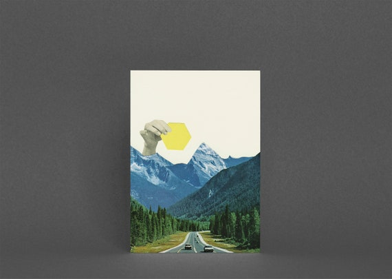 Mountain Card, Landscape Greetings Card - Moving Mountains