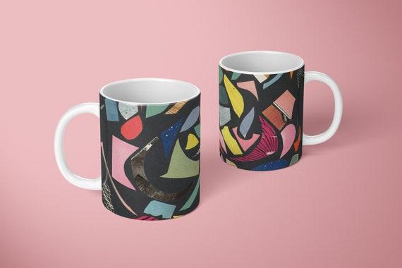 Abstract Mug - Black Terrazzo