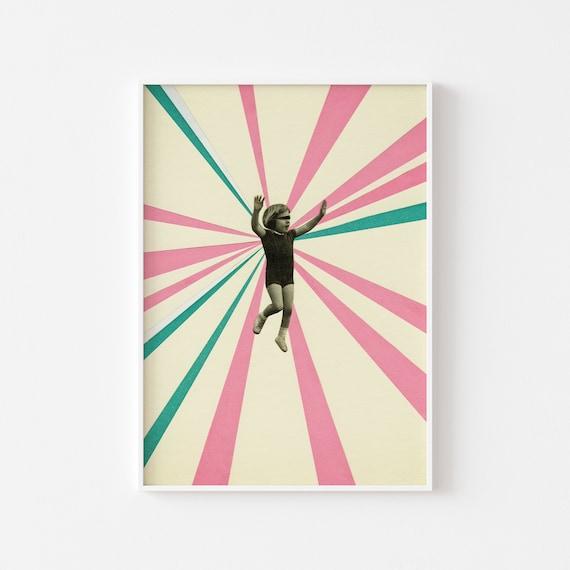 Child Portrait Print, Pop Art Poster, Retro Wall Art - Play