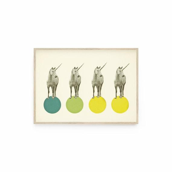 Unicorn Print, Gender Neutral, Kids Room Decor  - Unicorn Parade