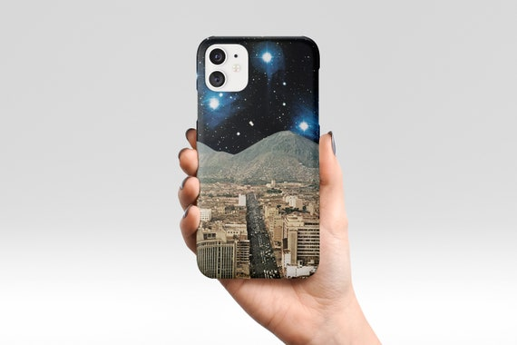 Space Phone Case, Retro Sci fi Device Cover - Space City