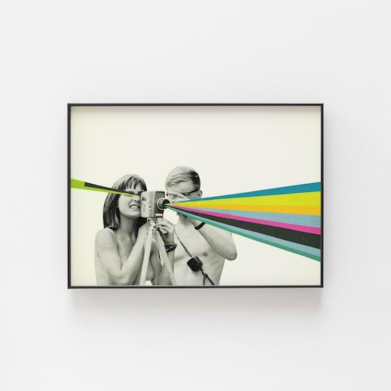 Pop Art Poster, Photographer Gift, Mid Century Wall Art - Back to Basics
