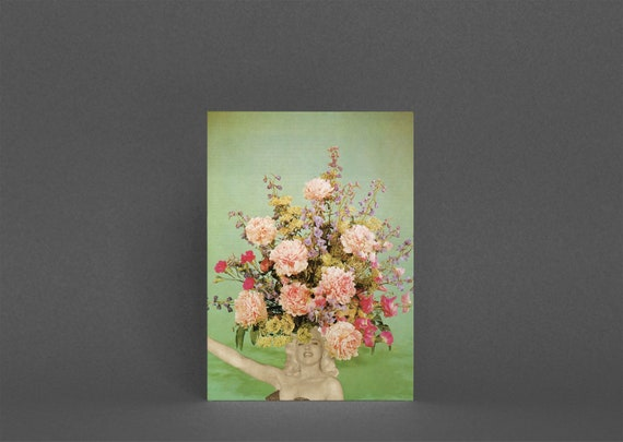 Card for Girlfriend, Flower Birthday Card for Her - Floral Fashions II