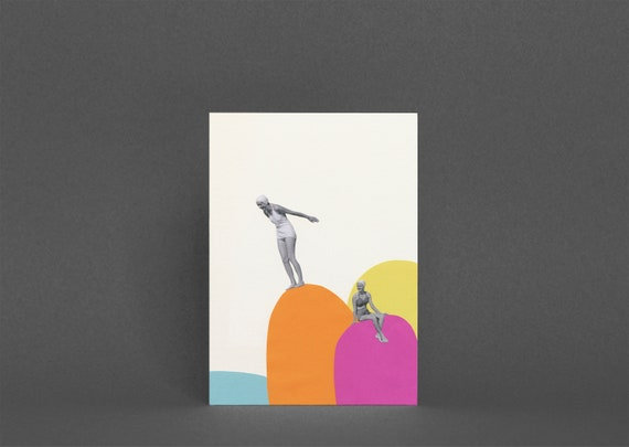 Summer Greetings Card - Cliff Diving