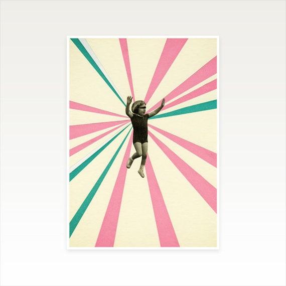 A3 Girl Portrait Print, Retro Wall Art, Sale Item - Play