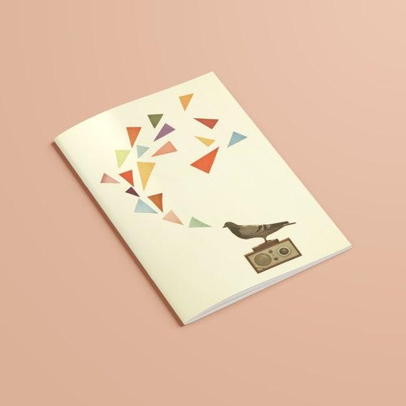 Bird Notebook, 100% Recycled A5 Journal - Pigeon Radio
