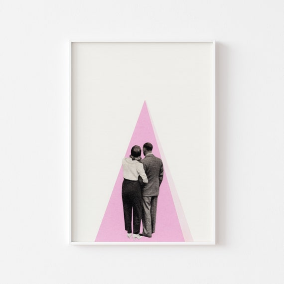 Romantic Print, Mid Century Wall Art, Gifts For Her, Bedroom Wall Decor - It's Just You and Me, Baby