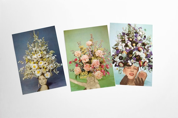 Flower Postcards, Modern Stationery, Gift Ideas - Floral Fashions