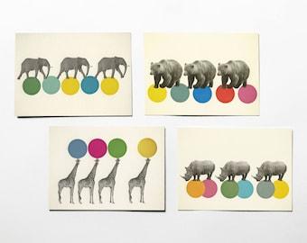 Animal Postcards, Kids Stationery, Gift Ideas - Roaming Animals