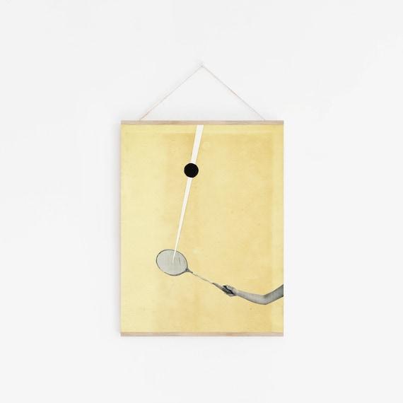 11x14 Inch Tennis Print, Retro Wall Art, Mid Century Decor, Sale Items - Tennis