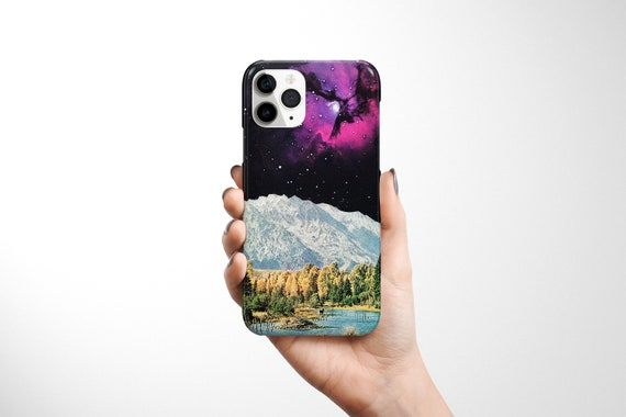 Space Phone Case, Retro Sci fi Device Cover - Time and Space
