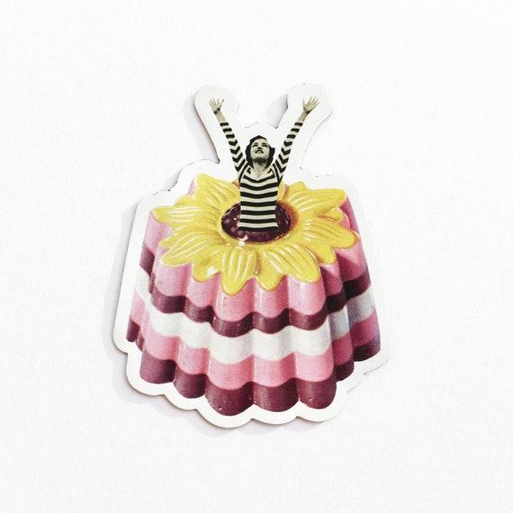 Food Fridge Magnet - Blancmange Surprise