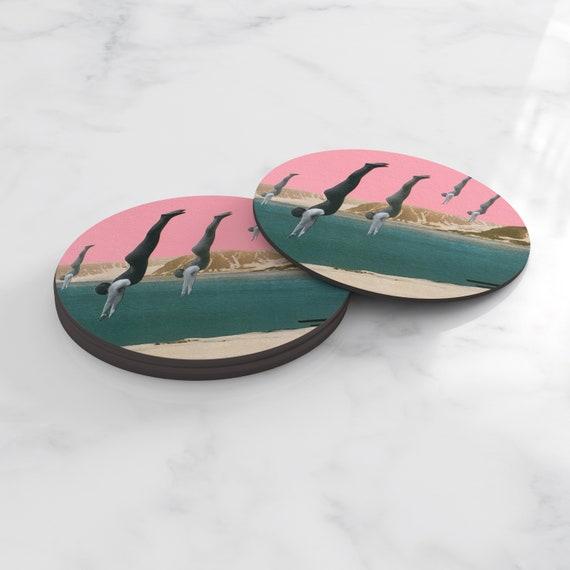 Art Coasters, Lake House Decor, Tableware - Dive