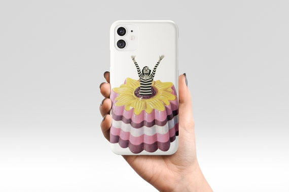 Food Phone Case, Retro Device Cover, Gift for Foodie - Blancmange Surprise