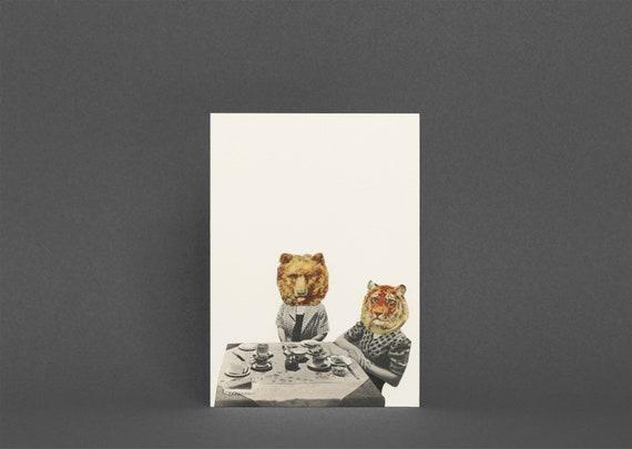 Animal Birthday Card - Tea Party