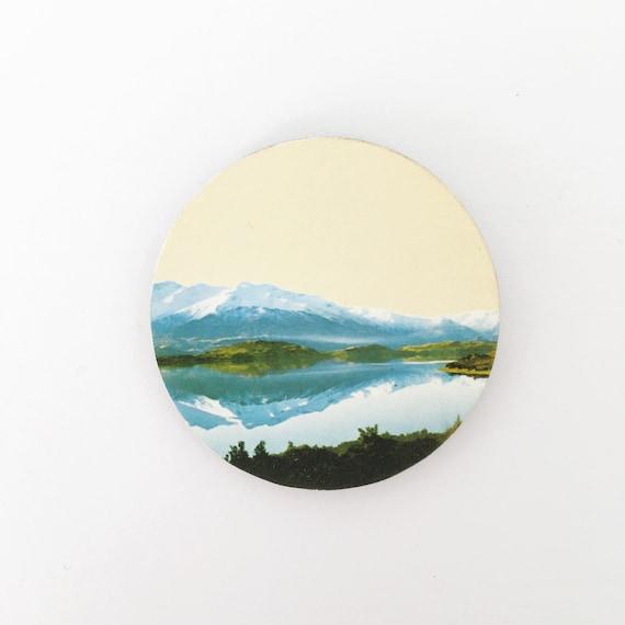 Mountain Brooch, 5th Anniversary Gift, Mountain Jewellery