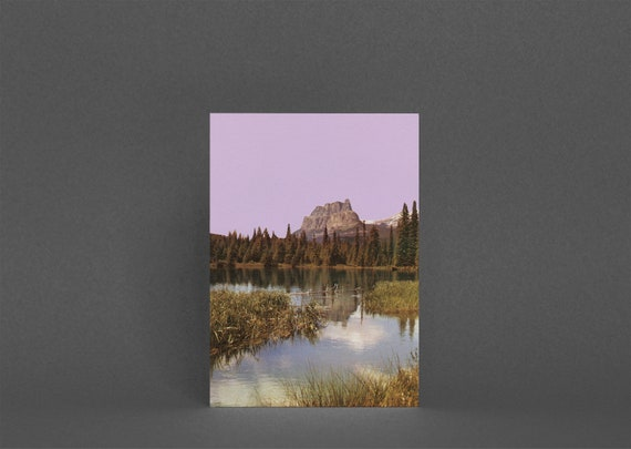 Lilac Mountain Card, Blank Greetings Card - Wilderness