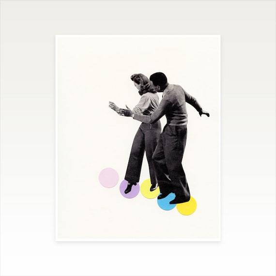 8x10 Inch Dance Art Print, Dance Studio Decor, Sale Item - Dance Steps