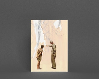 Fathers Day Card, Art Card for Man - Watching Paint Dry